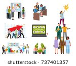 team work people management... | Shutterstock .eps vector #737401357