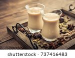 traditional indian drink  ... | Shutterstock . vector #737416483