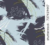 vector grunge abstract... | Shutterstock .eps vector #737419447