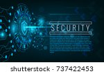 cyber attack and security... | Shutterstock .eps vector #737422453