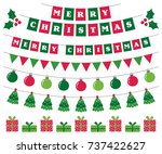 merry christmas vector banners... | Shutterstock .eps vector #737422627
