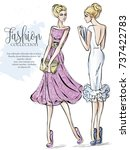 fashion collection advertising... | Shutterstock .eps vector #737422783
