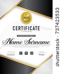 certificate template luxury and ... | Shutterstock .eps vector #737423533