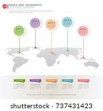 world map infographic template  ... | Shutterstock .eps vector #737431423