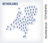 vector people map of... | Shutterstock .eps vector #737439493