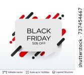white badge black friday... | Shutterstock .eps vector #737454667