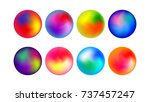 modern colorful radial   round... | Shutterstock .eps vector #737457247