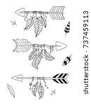 arrow set in native american... | Shutterstock .eps vector #737459113