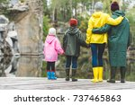 back view of family in... | Shutterstock . vector #737465863