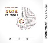2018 calendar template.calendar ...   Shutterstock .eps vector #737472853