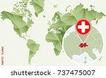 infographic for switzerland ... | Shutterstock .eps vector #737475007