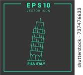 pisa icon.landmark icon vector... | Shutterstock .eps vector #737476633