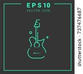 guitar vector icon.simple line... | Shutterstock .eps vector #737476687