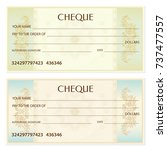 check  cheque   chequebook... | Shutterstock .eps vector #737477557