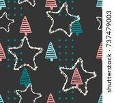seamless decor pattern for... | Shutterstock .eps vector #737479003