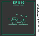 motorcycle vector icon.simple... | Shutterstock .eps vector #737479303