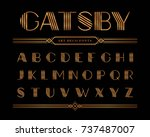 vector of gatsby fonts and... | Shutterstock .eps vector #737487007