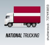 symbol of national delivery...   Shutterstock .eps vector #737493853