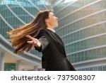 a businesswoman in a business... | Shutterstock . vector #737508307
