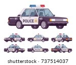 police car set. patrol official ... | Shutterstock .eps vector #737514037