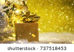 christmas tree with decoration... | Shutterstock . vector #737518453