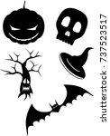 halloween set small | Shutterstock . vector #737523517