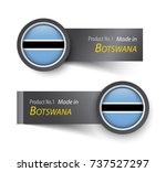 flag icon and label with text... | Shutterstock .eps vector #737527297