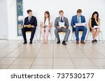 candidates wait for job... | Shutterstock . vector #737530177