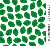 seamless pattern with green... | Shutterstock .eps vector #737531677
