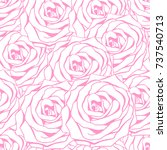 nice seamless pattern with... | Shutterstock .eps vector #737540713