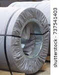 rolls of cold rolled galvanized ... | Shutterstock . vector #737541403