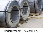 rolls of cold rolled galvanized ... | Shutterstock . vector #737541427