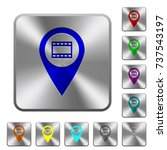 cinema gps map location... | Shutterstock .eps vector #737543197