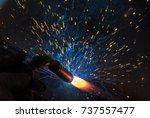 welder  craftsman  erecting... | Shutterstock . vector #737557477