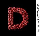 Letter D Red Skull Font. Type...