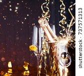 new years eve celebration... | Shutterstock . vector #737571313