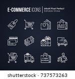 set of e commerce   shopping... | Shutterstock .eps vector #737573263
