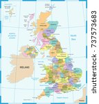 united kingdom map   detailed... | Shutterstock .eps vector #737573683