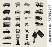 transport icons | Shutterstock .eps vector #737582347