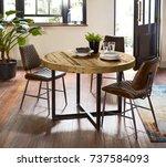 interior design of luxury... | Shutterstock . vector #737584093