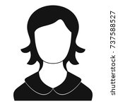 woman user icon. simple...