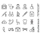 thin line medical icon set  | Shutterstock .eps vector #737601187
