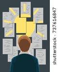 businessman idea vector... | Shutterstock .eps vector #737616847