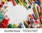 different accessories for... | Shutterstock . vector #737617327