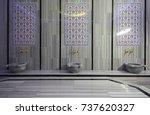 turkish bath   hamam interior | Shutterstock . vector #737620327