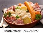 choucroute sauerkraut with...   Shutterstock . vector #737640697