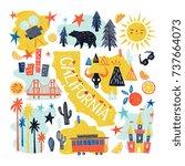 california emblem   tourist...   Shutterstock .eps vector #737664073