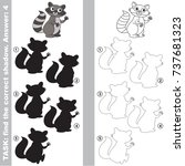 raccoon to find the correct... | Shutterstock .eps vector #737681323