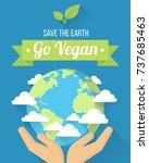 vector go vegan poster  banner... | Shutterstock .eps vector #737685463