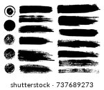 painted grunge stripes set.... | Shutterstock .eps vector #737689273